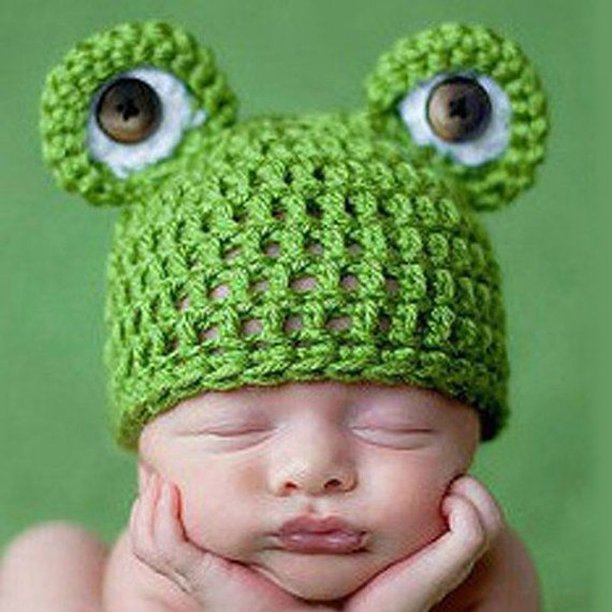 Bonrich Cute Frog Newborn Crochet Outfits Warm Set Cap Boy Cap Girl Hat Baby Cap Baby Hat For Infant Newborn Photography Prop Walmart Com Walmart Com