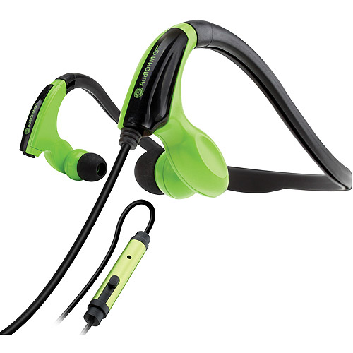 GOgroove AudiOHM CFT Sports Headphones with Fitness Neckband Design, In-line Microphone and Audio Playback Controls - Use with Smartphones, MP3 Players, Tablets and More!