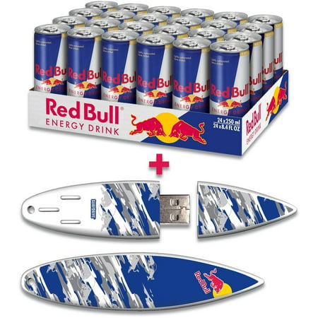 Red Bull 24 Pack 8 4 Ounce Original Energy Drink And 16Gb Blue Camo Usb Surfdrive