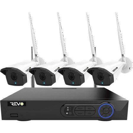 Revo America Wireless 4CH 5MP NVR Security System, 1TB HDD | 4 x 5MP Cameras (American Security Systems)