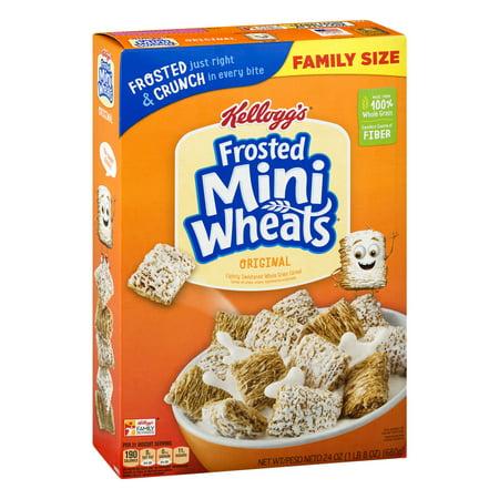 Kelloggs Frosted Mini Wheats Bite Size Breakfast Cereal 24 Oz