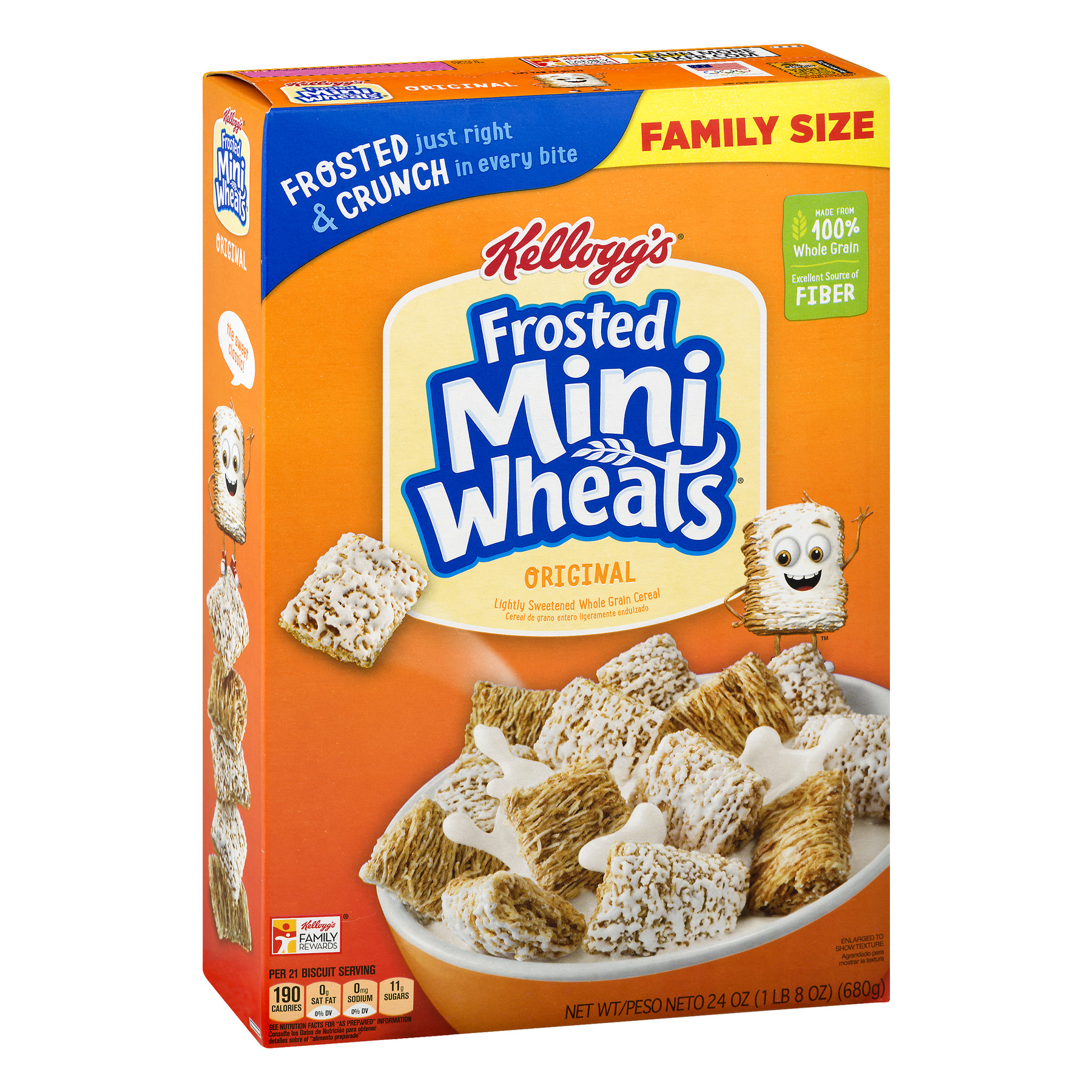 Kellogg's Frosted Mini-Wheats Breakfast Cereal 24 Oz