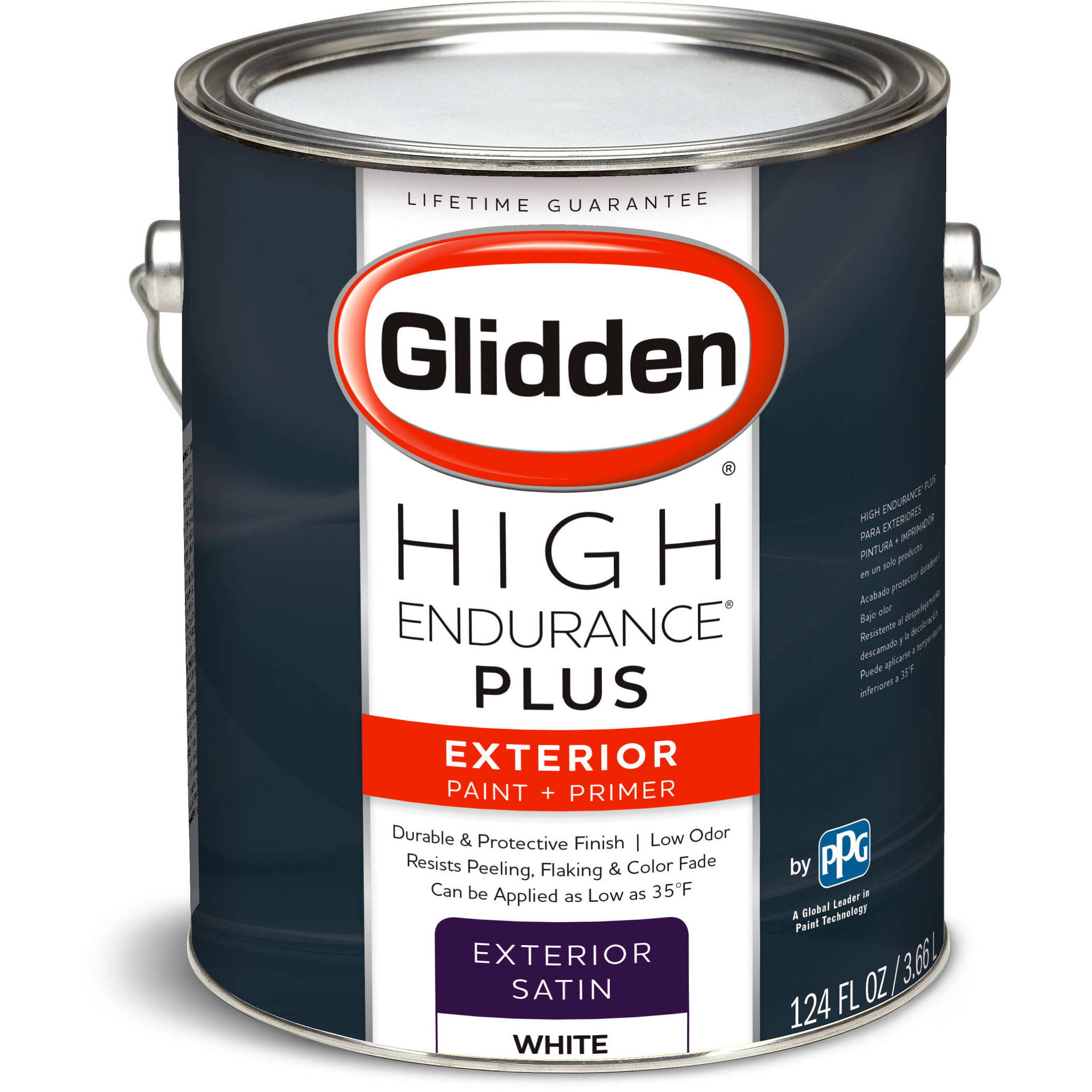 Glidden High Endurance Plus  Exterior Paint and Primer  Satin Finish  Ready  Mix White  1 Gallon   Walmart comGlidden High Endurance Plus  Exterior Paint and Primer  Satin  . Glidden Exterior Paint Color Chart. Home Design Ideas