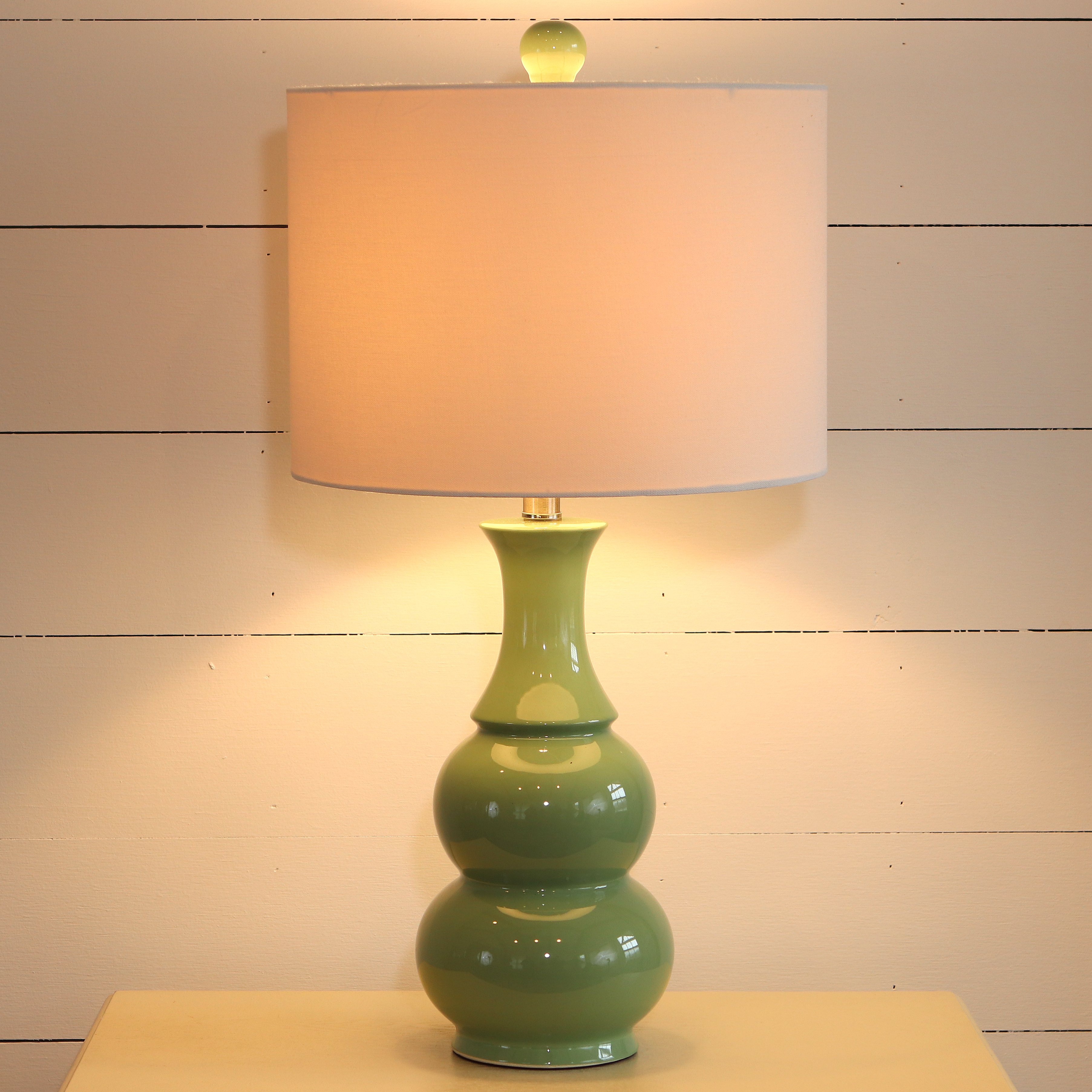 Double Gourd Ceramic Table Lamp Walmart Com