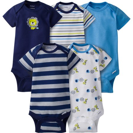 Gerber Baby Boy Onesies Safari - 5 Pack - 3-6 Months (3-6 Month Old Baby Halloween Costumes)