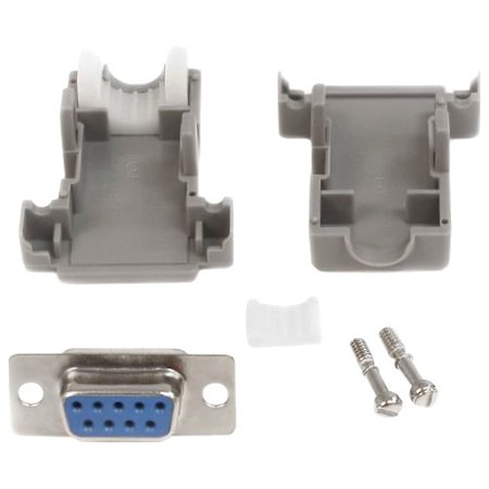 StarTech Assembled DB9 Female Solder D-SUB Connector with Plastic Backshell