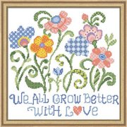 Herrschners We All Grow Better Stamped Cross-Stitch Kit