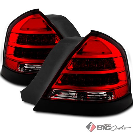 1998-2011 Crown Victoria Red Clear LED Performance Tail Lights Upgrade PI Style Pair L+R 1999 2000 2001 2002 2003 2004