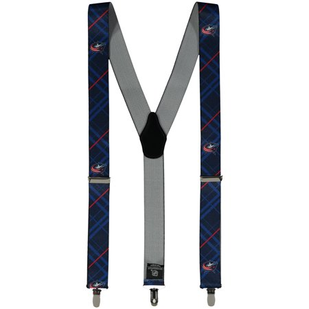 Men's Blue Columbus Blue Jackets Suspenders - No Size