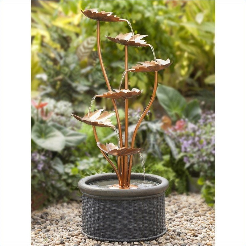 Jeco Metal Leaves Water Fountain by Jeco Inc.