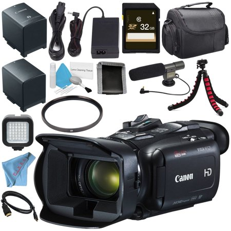 Canon VIXIA HF G21 HFG21 Full HD Camcorder + Lithium Ion Battery Pack + 32GB microSDHC Card + 58mm UV Filter + LED Light + Condenser Mic + Memory Card Wallet + Card Reader (Canon Vixia Hf G20 Hd Camcorder Review)