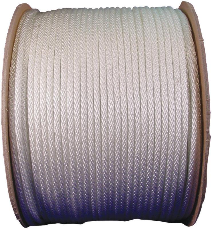 Wellington 10151 Solid Braided Rope, NO 10, 5/16 in Dia x 500 ft L, Nylon, White
