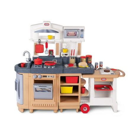 Little Tikes Cook Around Kitchen & Cart with 33-piece Accessory Set