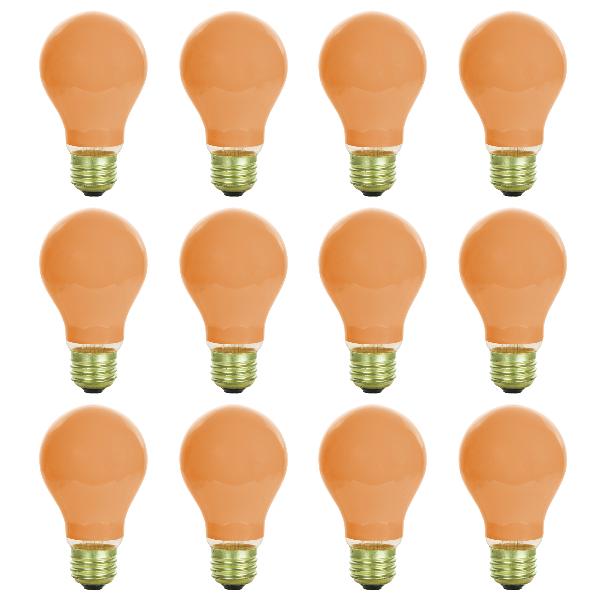 12 Pack of Sunlite 40 watt Ceramic Orange Colored Incandescent Light Bulb - Parties, Decorative, and Holiday 1,250 Average Life Hours