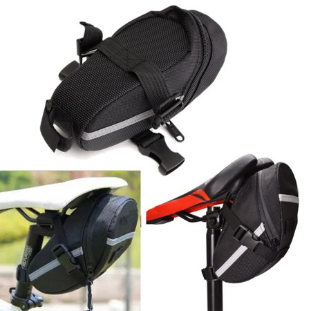 Black Mountain Bike Cycling Saddle Bag Seat Pouch Bicycle Tail Bag Rear (Seal Tail)