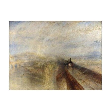 Rain, Steam, and Speed, the Great Western Railway, 1844 Print Wall Art By J. M. W.