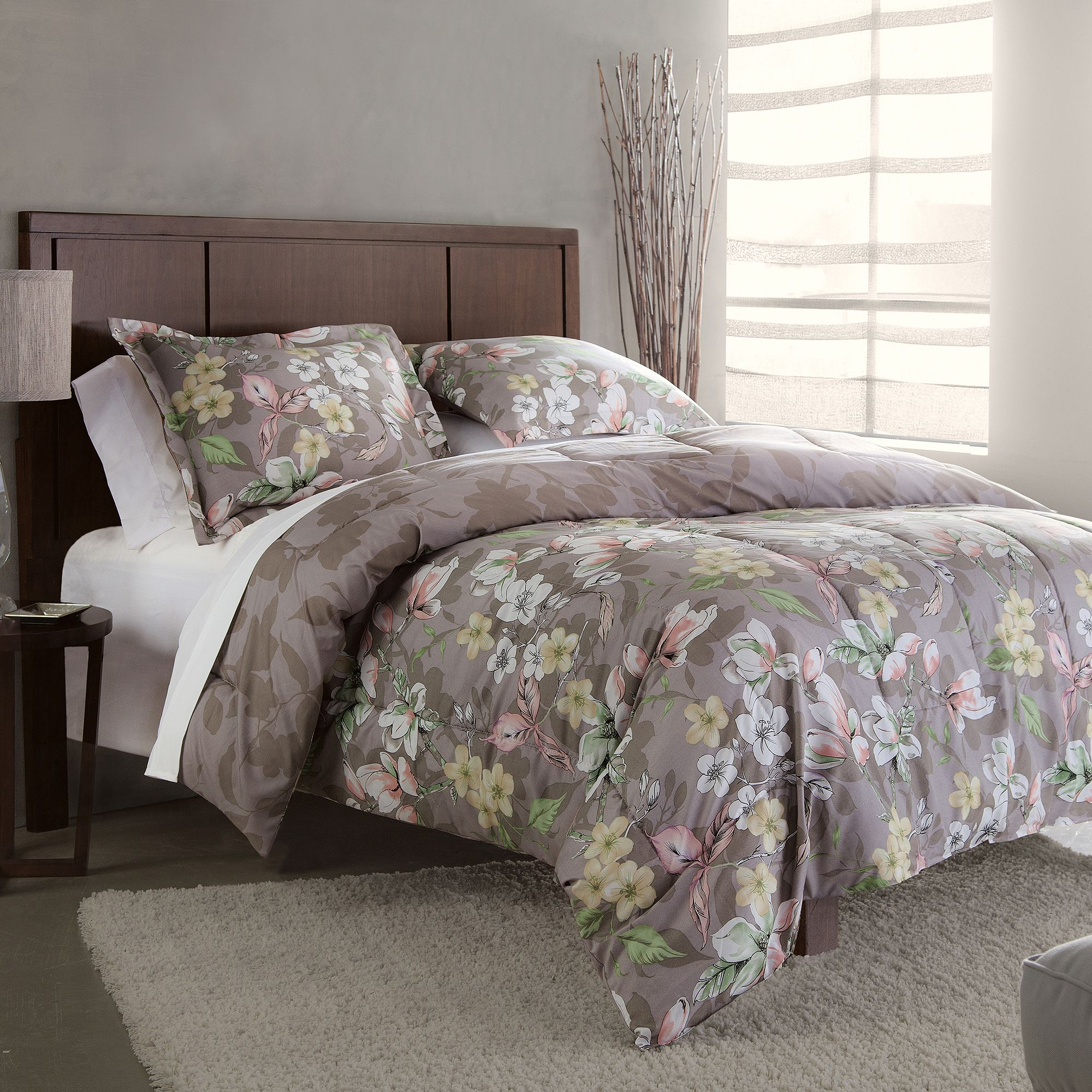Divatex Home Fashions Natalie Bedding Comforter Set, Gray