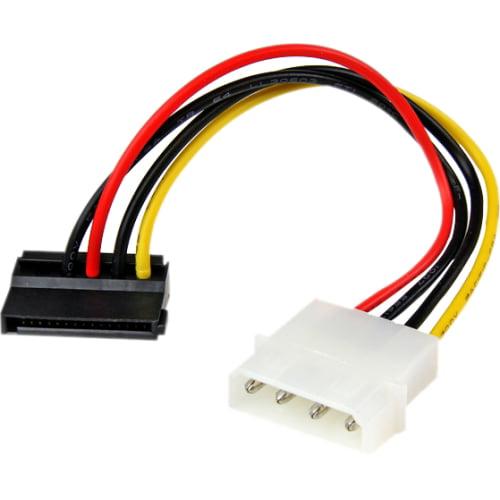 "StarTech SATAPOWADPL 4-Pin Molex to Left Angle SATA Power Cable Adapter, 6"""