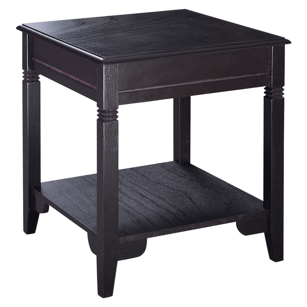 Costway End Table Durable Quality Furniture Shelf Decor Home Living Room
