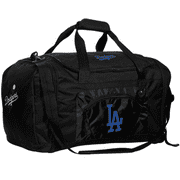 Los Angeles Dodgers Roadblock Duffle Bag - Black - No Size