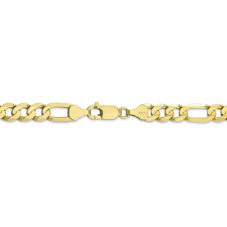 10K Yellow Gold 6.75mm Light Concave Figaro Chain 22 Inch - image 4 of 5