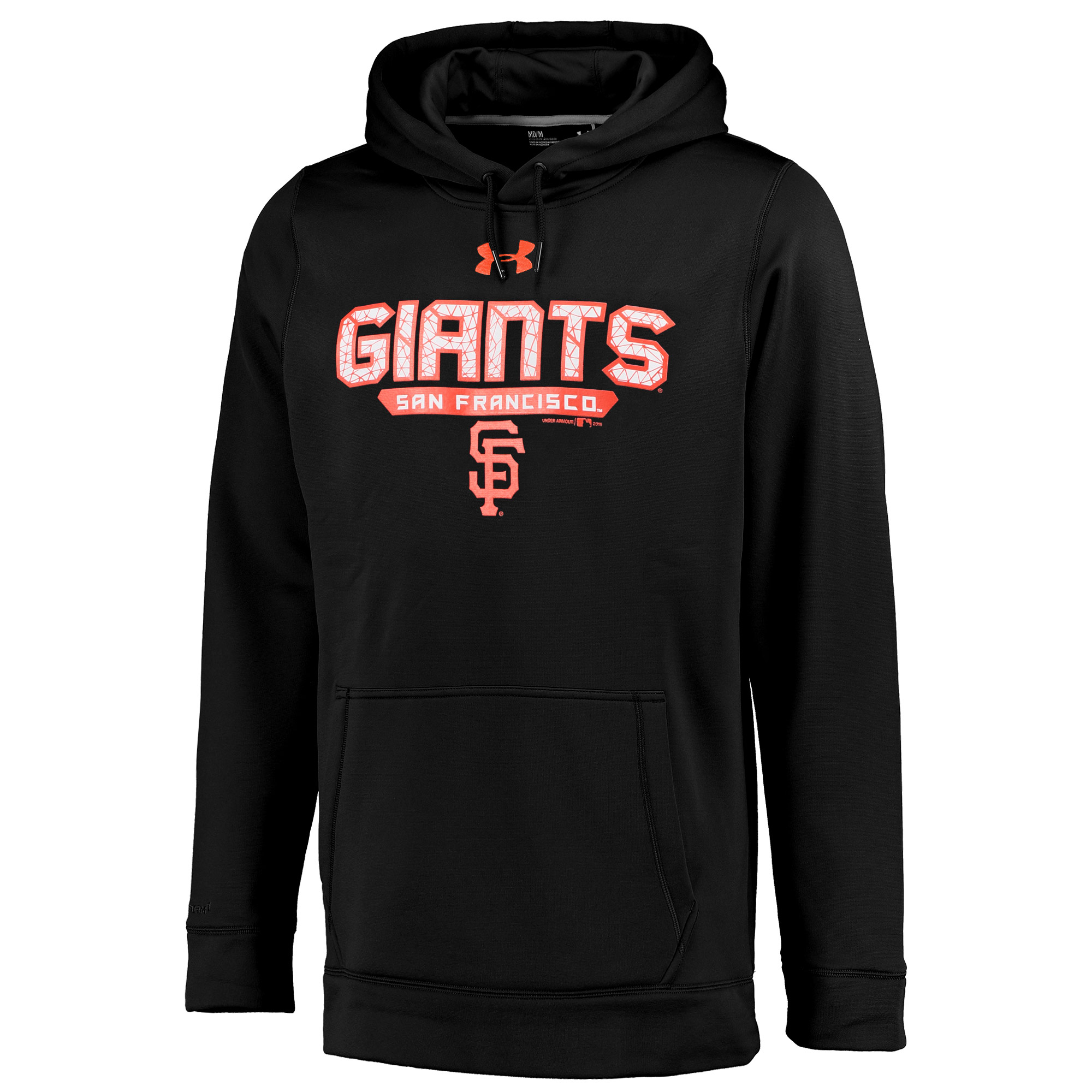 San Francisco Giants Under Armour Pullover Hoodie - Black