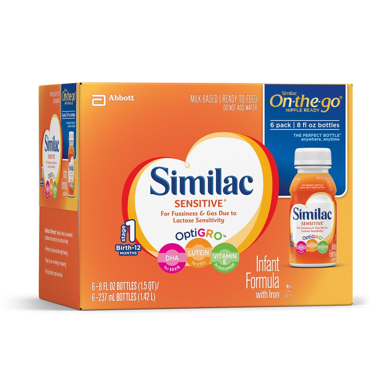Similac Sensitive Infant Formula Ready-to-Feed (24 Count) 8 fl oz