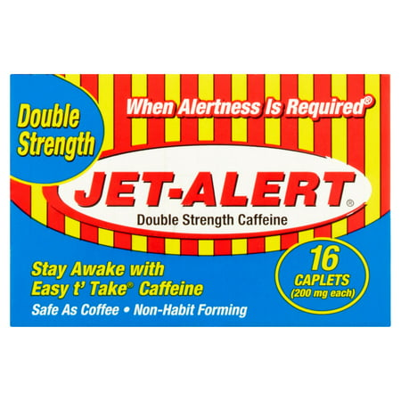 Jet-Alert Double Strength Caffeine Caplets 200 Mg 16 Ct
