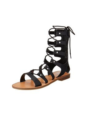 Black G BY GUESS Womens Gladiator & Caged Sandals