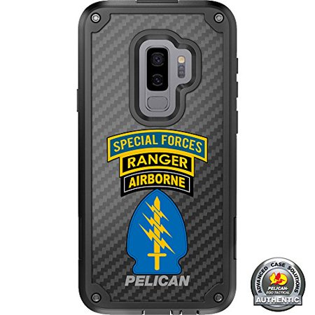 Triple Bug Canopy (LIMITED EDITION Pelican Shield Kevlar Case for Samsung Galaxy S9+ Plus Designs by Ego Tactical with up to 24-foot drop protection: Triple Canopy- Special Forces, Ranger, Airborne )