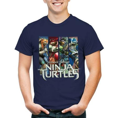 Men's 4-panels ninja turtles 2014 movie t-shirt - Ninja Turtle Shirt