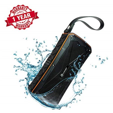 woozik active waterproof bluetooth speaker - dual 8w drivers, more bass, ipx7 rating, microphone, power bank, usb,aux, and micro sd card support, indoor or outdoor, travel beach shower hiking