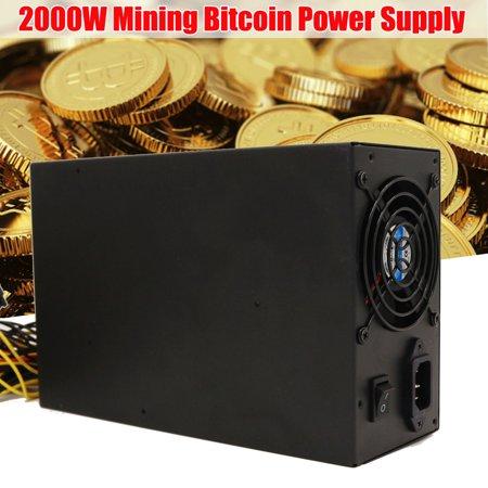 Professional 2000W ATX Mining Miner Power Supply Module For 8 GPU ETH BTC Rig Bitcoin Mining