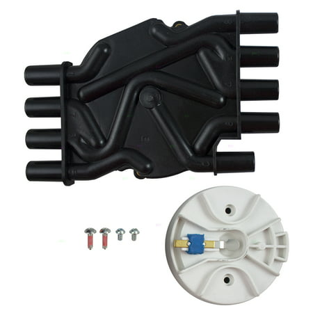 Ignition Distributor Cap & Rotor Kit Replacement for Cadillac Chevrolet GMC Pickup Truck SUV Van -