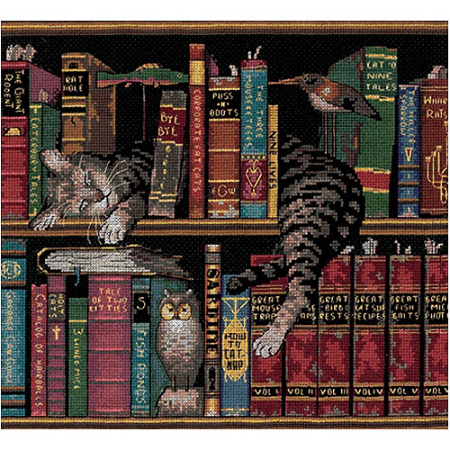 "Dimensions ""Frederick the Literate"" Counted Cross Stitch Kit, 12"" x 11"""