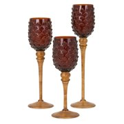 IMAX Pine Cone Votive Candle Holders - Set of 3