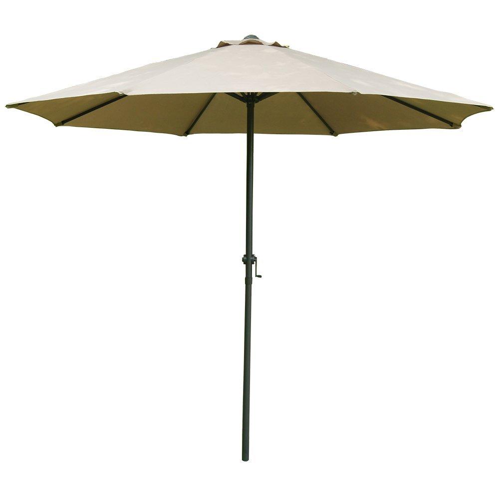 9 Foot Patio Market Umbrella Polyester Crank Aluminum Home