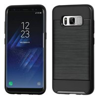 Samsung Galaxy S8 Case, by ASMYNA Brushed Hybrid Hard PC/TPU Dual Layer Protective Case For Samsung Galaxy S8 - Black