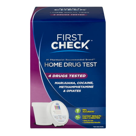 First Check At Home Urine Drug Test, 4 drugs tested, 1.0 (Best Over The Counter Drug Test For Thc)
