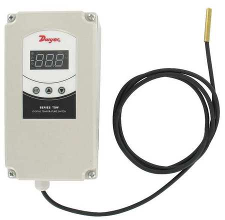 DWYER TSW-150 Temperature Controller, Digital, SR