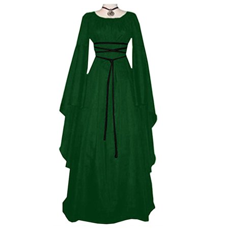 Women's Vintage Halloween Renaissance Costume Medieval Gown Fancy Dress