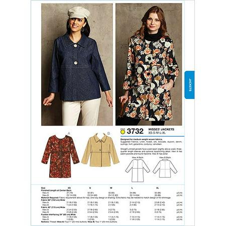 Kwik Sew Pattern Jackets Xs S M L Xl Walmart