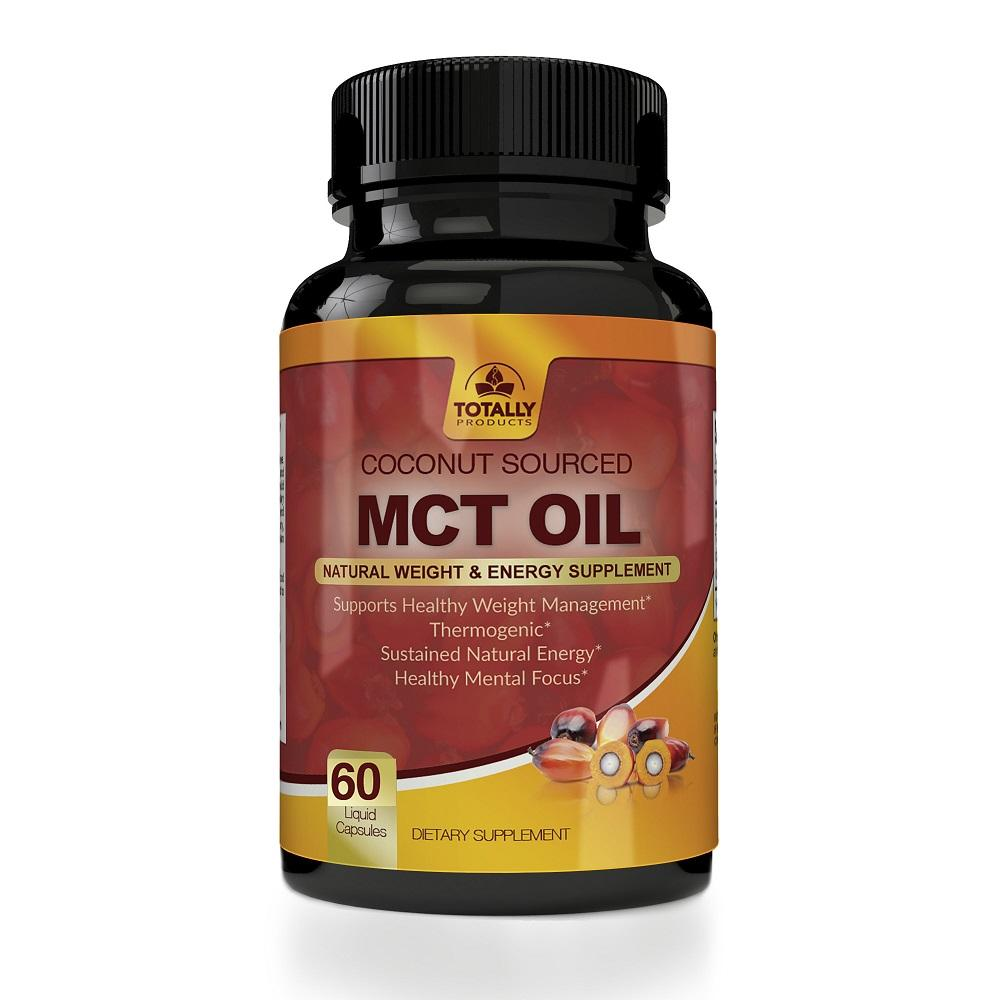 Totally Products Premium MCT OIL 3000mg for Energy and Weight Management (60 Softgels)