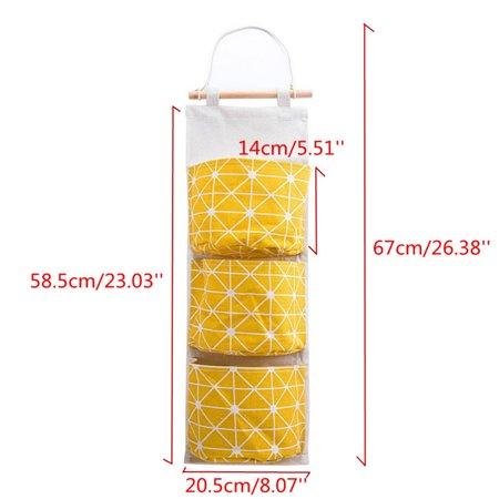 Wall Hanging Storage Bag 3 Layer Pockets Door Organizer Pouch Holder Wardrobe - image 9 of 9