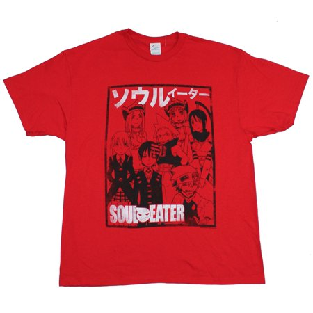 Soul Eater Mens T-Shirt - Team Cast Image Outlined in Box Image