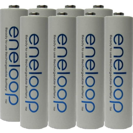Eneloop Aaa Batteries - Panasonic Eneloop AAA 4th generation NiMH Pre-Charged Rechargeable 2100 Cycles 8 Batteries + Free Battery Holder