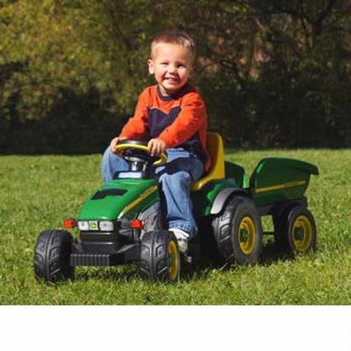 Peg Perego IGCD0522 John Deere Farm Tractor and Trailer by