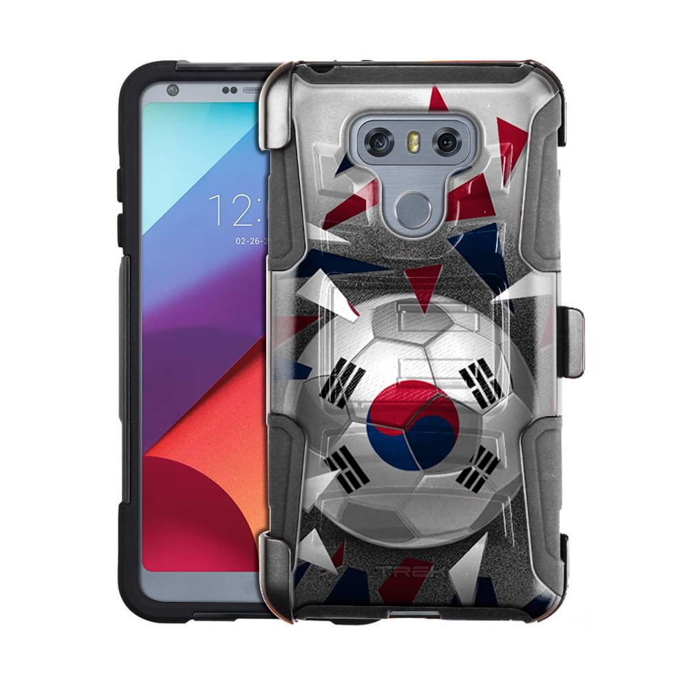 LG G6 Armor Hybrid Case Soccer Ball Korea Flag by Trek Media Group