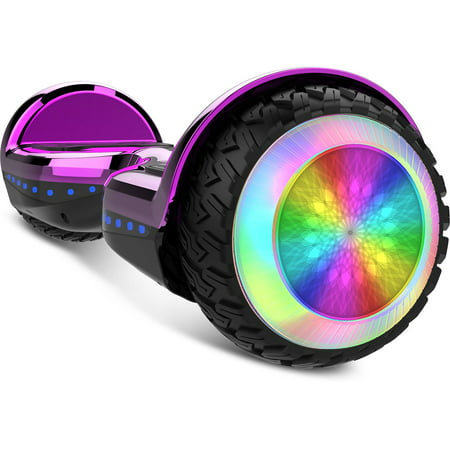 Gyrocopters PRO 6.0 Off-Road Hoverboard - UL 2272 Certified with Bluetooth, LED wheels, APP, No Fall Technology, Front and Back lights (Purple) - image 10 of 10