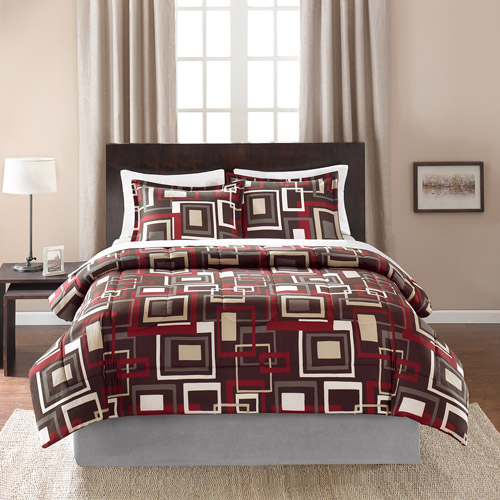 Mainstays Geo Printed Bedding Comforter Mini Set